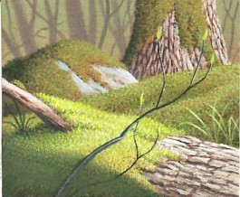 Painting moss realistically