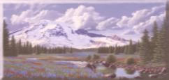 Davids painting of Mt. Rainier.