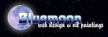 Bluemoon - web design and oil paintings
